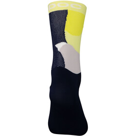 POC Essential Print Socken color splashes multi sulfur yellow